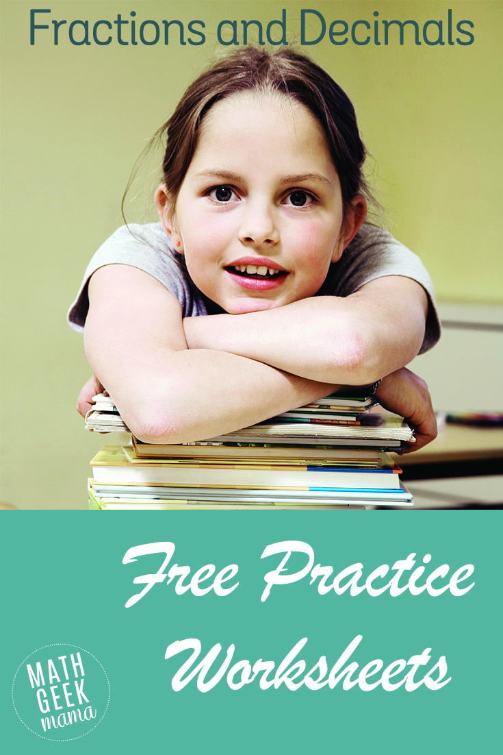 Click here for a list of simple, free math worksheets to practice fractions and decimals. Plus, every worksheet includes an answer key!