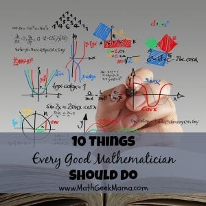Being good at math takes hard work and discipline, but is not impossible! Learn how to be a better student of mathematics at MathGeekMama.com!