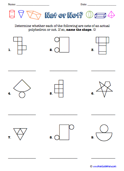 Geometry Nets Worksheet Worksheets For School - Toribeedesign