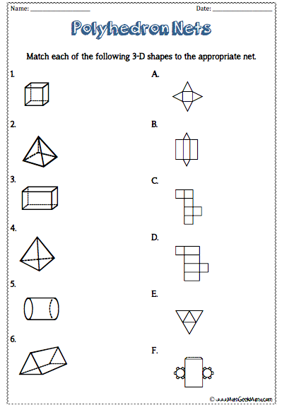 3-D Shapes Worksheets! {FREE Printables!}