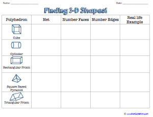 worksheet is a simple matching page to help kids determine the nets ...