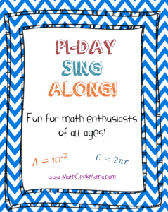 Pi day singalong image