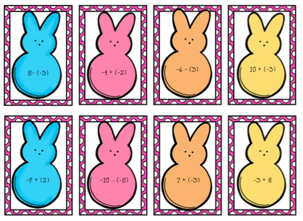 Free Game For Adding And Subtracting Integers. Peeps Game. Worksheet. Subtraction Worksheet Games At Mspartners.co