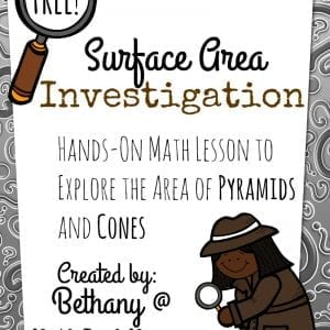 This fun and FREE investigation of surface area is a very helpful way to encourage a conceptual understanding, rather than memorizing formulas!