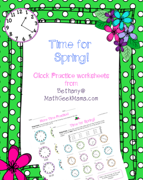 Free telling time practice worksheets time for spring title ibookread ePUb