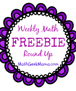Weekly Math Freebie Round-Up!