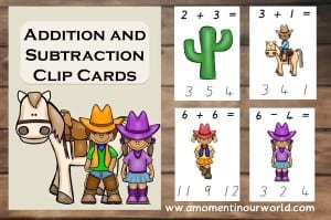 Addition-and-Subtraction-Clip-Cards