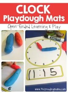 FREE-Clock-Playdough-Mats