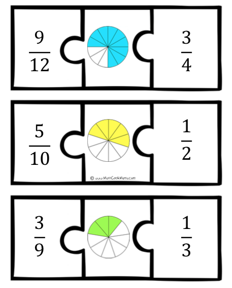 Fraction Puzzles {FREE Download!}