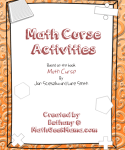 Math Curse Activity Pack! {FREE!}
