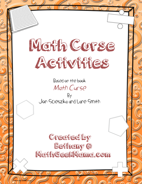 "This awesome resource has tons of ideas for using the book ""Math Curse"" in the classroom! After reading the story, continue to learn with these fun and free lessons!"