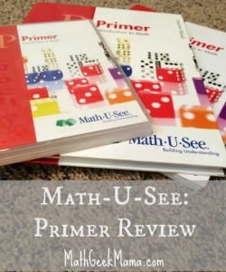 Math-U-See {Review!}: Primer Level