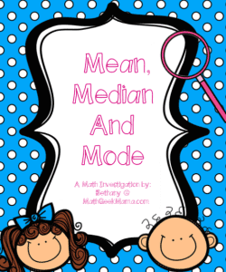 Understanding Data with Mean, Median and Mode {FREE Lesson!}