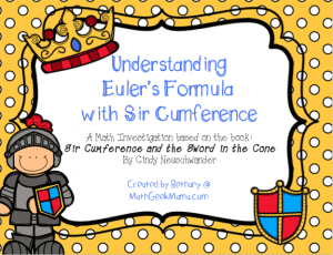 "A fun and easy lesson on 3D shapes and Euler's formula to go along with the book, ""Sir Cumference and the Sword in the Cone!"" Free to download!"