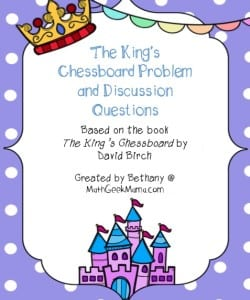 The King's Chessboard Problem {Free Printables!}