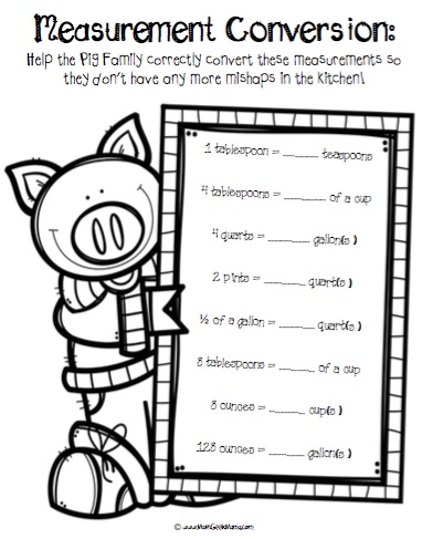 recipe conversion math activity #4 answer key