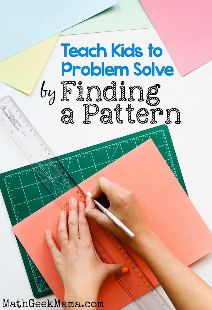 This is such a useful math problem solving strategy! Kids can get so overwhelmed by math word problems, but helping them organize the information in a table and then find a pattern can make things easier!