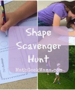 Taking Math Outside: Shape Scavenger Hunt