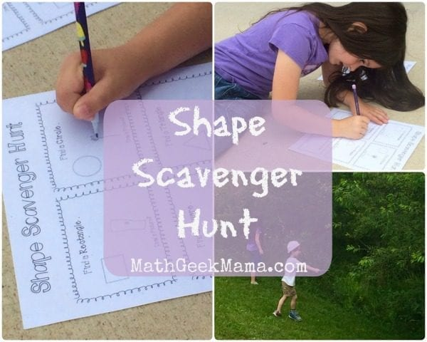 A great way to let kids get outside and explore, while learning about and discovering shapes in the world around us!