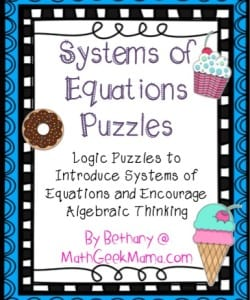 {FREE} System of Equations Logic Puzzles!