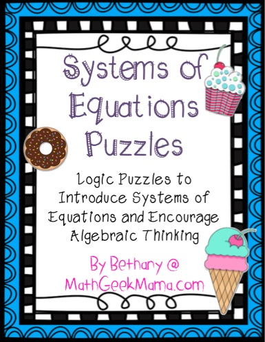 Free System Of Equations Activity Simple Logic Puzzles
