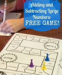 Adding and Subtracting Large Numbers: FREE Game!