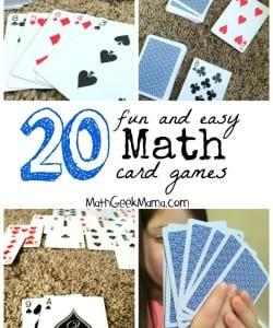 The 20+ BEST Math Card Games