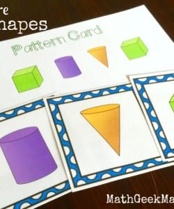 3D Shapes Activity Pack! {FREE Download!}