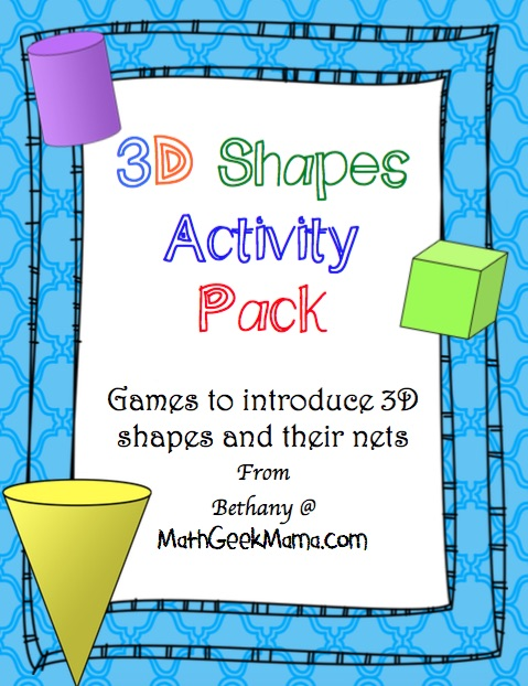 image relating to Printable Card Games identified as 3D Designs Card Game titles - Math Geek Mama