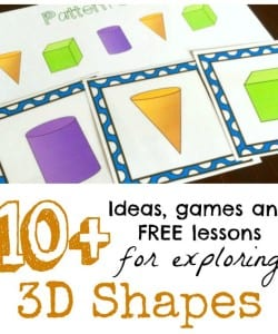 A great list of ideas and free printables for learning about 3D shapes and their nets! Such fun ideas!