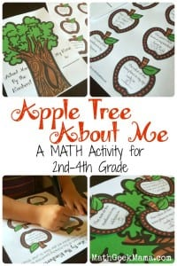 "A fun and easy ""about me"" back to school math activity! A great idea for getting kids thinking about math as they head back to school!"