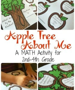 Apple Tree About Me! {A Back to School Math Activity}