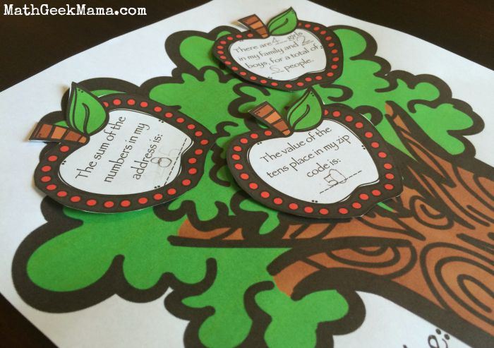 Apple Tree About Me Math Activity2_MathGeekMama