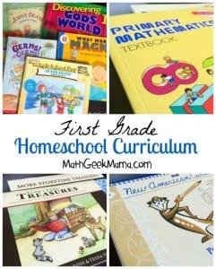 First Grade Homeschool Curriculum Choices_2015