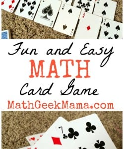 A fun and easy way to practice early math skills! All you need is a deck of cards!