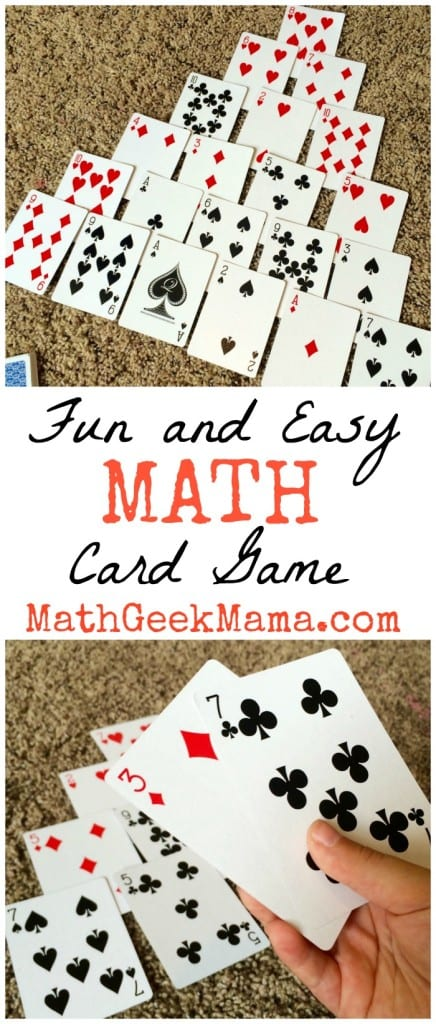 Fun and Easy math Card Game_Math Geek Mama