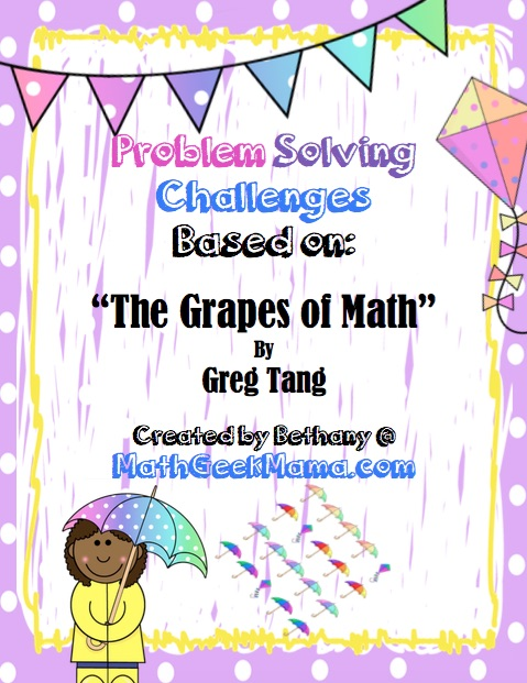 Grapes of Math Addition Problem Solving Pages_MathGeekMama