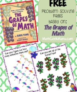 """The Grapes of Math"" Problem Solving Pages {FREE!}"
