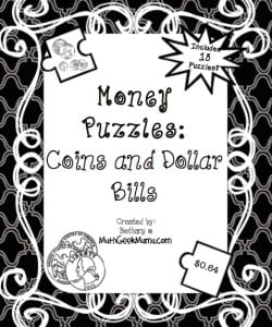 Counting Change: Money Puzzles {FREE!}