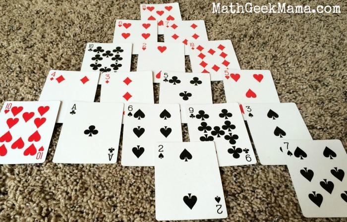 Pyramid Math Card Game2