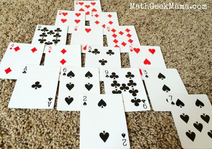 Pyramid Math Card Game3
