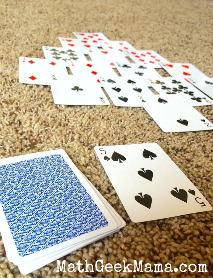 Pyramid Math Card Game4