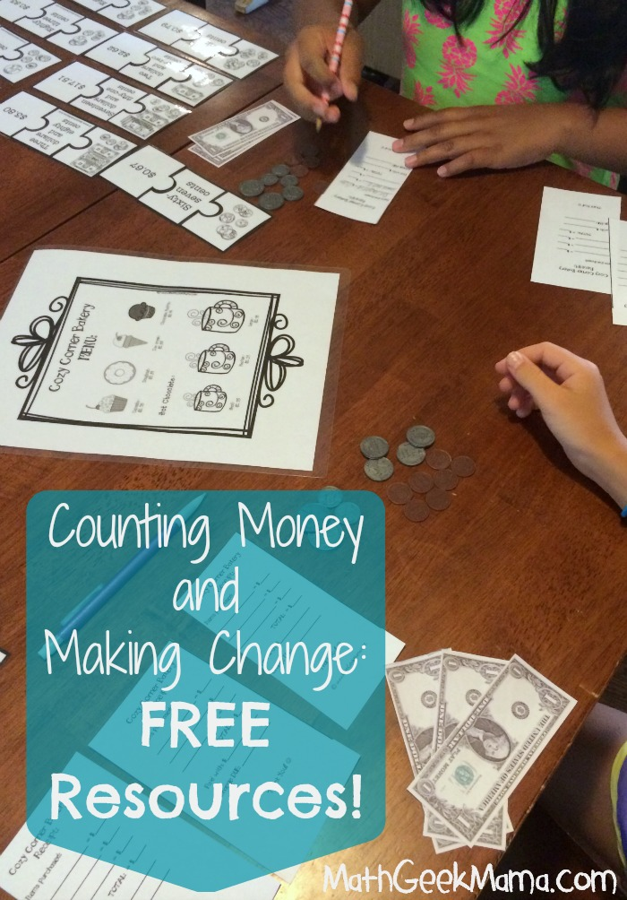 Summer Math Camp All About Money – Making Change Math Worksheets
