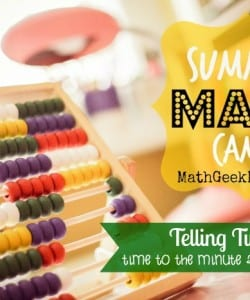 Summer Math Camp Week 5: Time and Elapsed Time