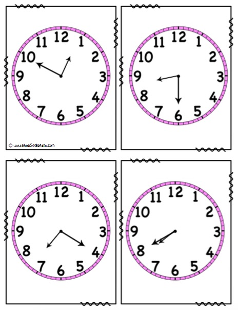 Time Word Problems Solve and Search Clocks FREE_Math Geek Mama