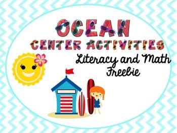 ocean math and literacy freebie