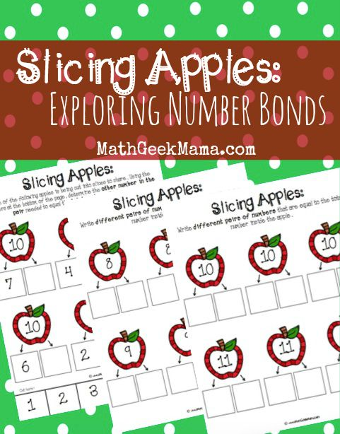picture relating to Apple Pattern Printable referred to as Amount Bonds with Apple Slices No cost Printables!