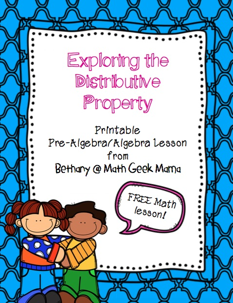 FREE lesson for using and exploring the distributive property in Algebra! Easy to use with answer key included!