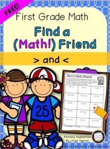 Find Friend Math freebie cover