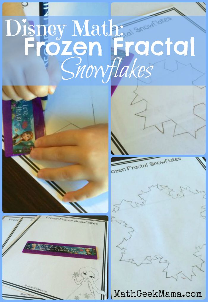 Learn To Draw A Fractal Snowflake With Elsa From Frozen Fun Math: Fractals Worksheet At Alzheimers-prions.com